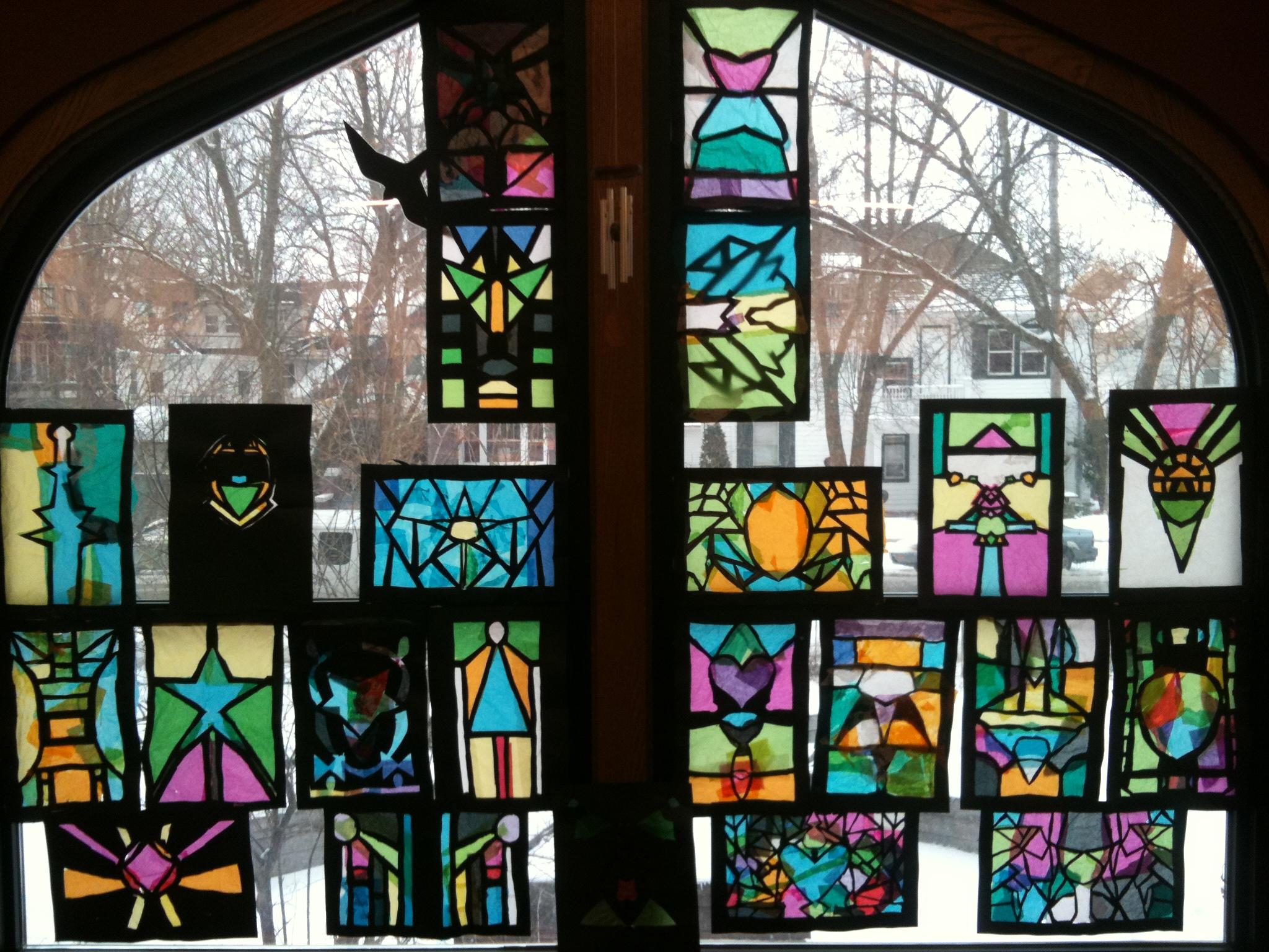 frank lloyd wright art glass o 39 keeffe 39 s backyard. Black Bedroom Furniture Sets. Home Design Ideas